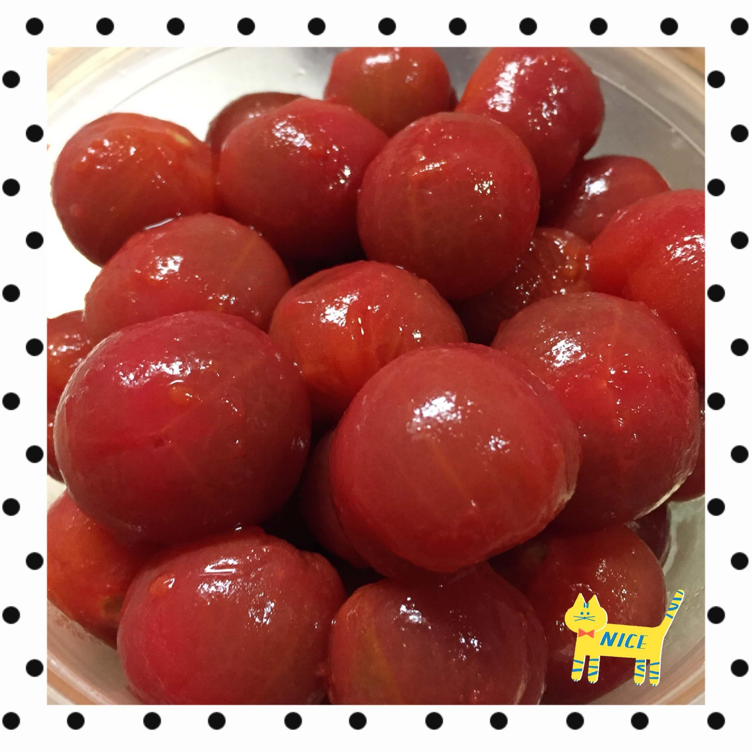 プチトマトの湯むきのブログ画像