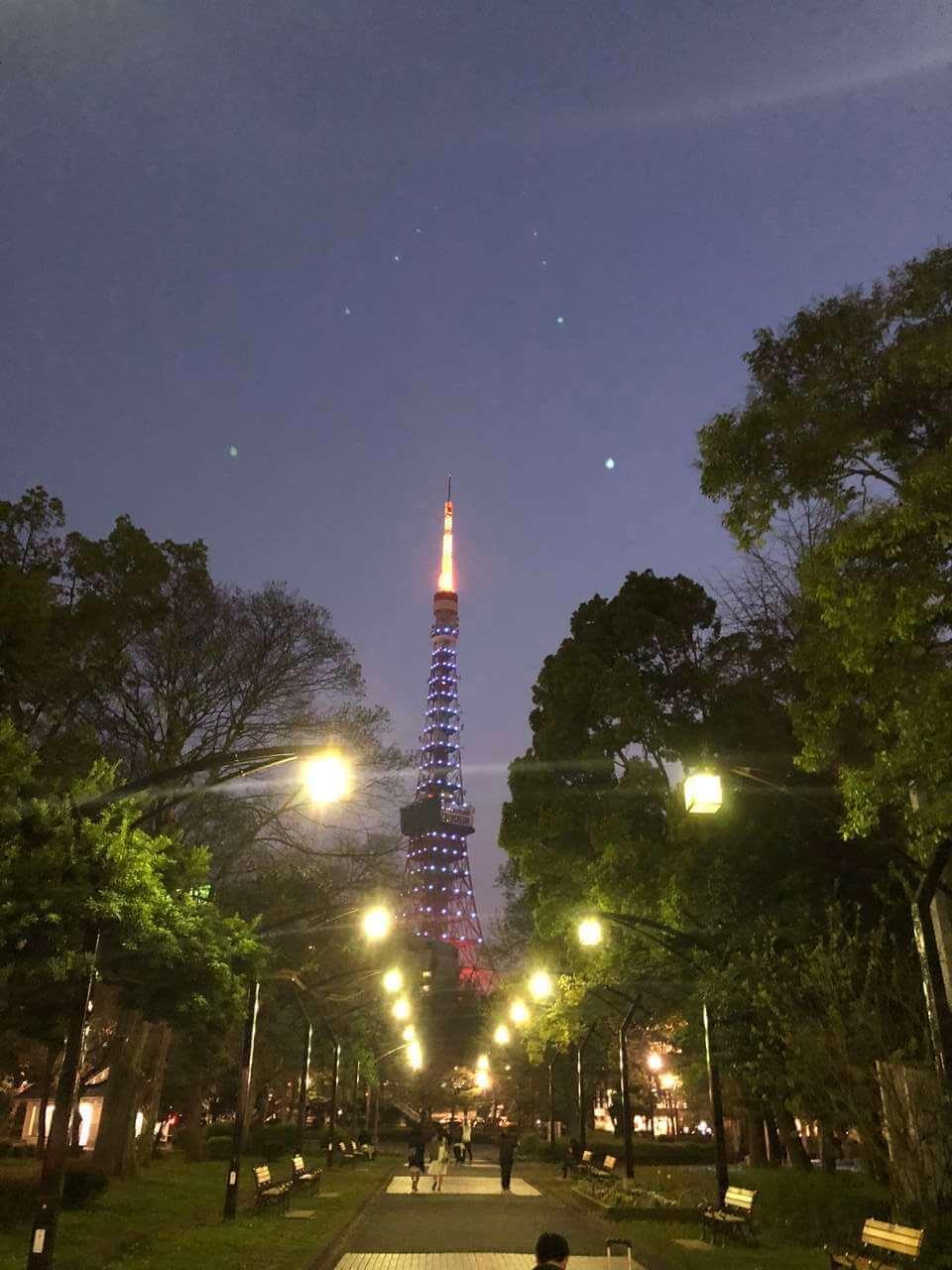 世界自閉症啓発デーの青い東京タワーのブログ画像