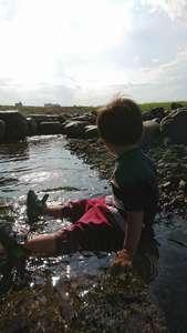 夏の思い出。川あそび。のブログ画像